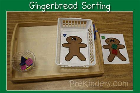 gingerbread sorting prekinders 199 | gingerbread sort