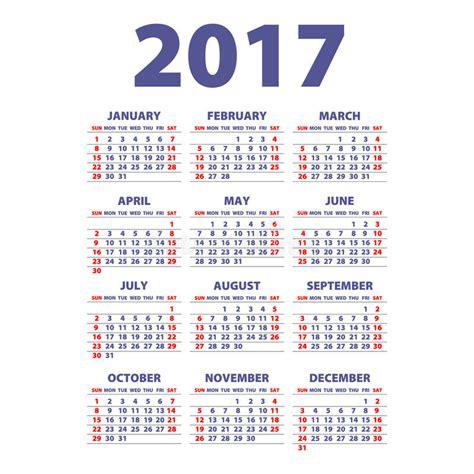 2017 kalender illustration vektorschablone kalenders des