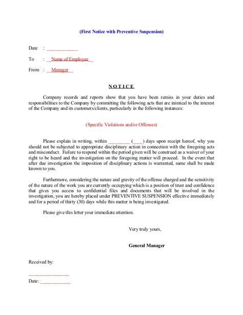 notice  explain  suspension
