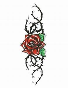 rose-with-black-thorny-vines-tattoo.jpg (480×622 ...