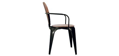 chaise louix industry avec accoudoirs achetez nos chaises louix industry noires avec