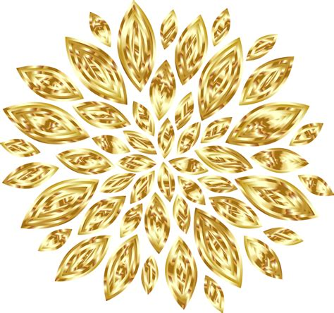 gold flowers clipart clipground