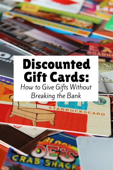 discounted gift cards   save  budget