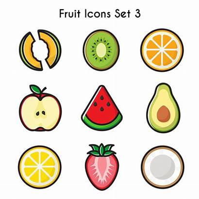 Fruits Melon Icons Buah Kiwi Apple Pixabay