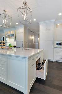 kitchen island with pull out utensils drawer With kitchen colors with white cabinets with tall lantern candle holders