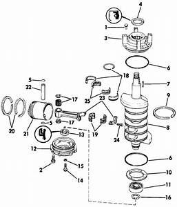 Johnson Crankshaft  U0026 Piston Parts For 1991 90hp Tj90tleie