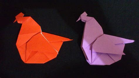 membuat origami ayam betina origami binatang youtube