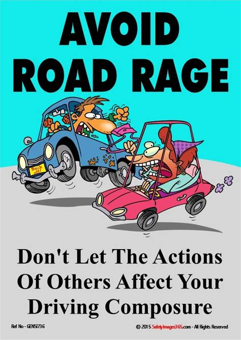 general safety poster avoid road rage safetyimagescom