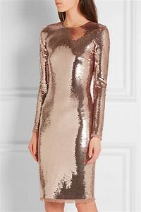 tom ford sequined tulle dress in metallic blue lyst