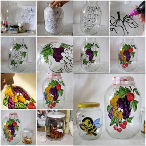 beautiful glass jar painting step  step diy