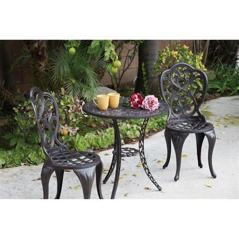 shop darlee 3 cast aluminum patio bistro set at