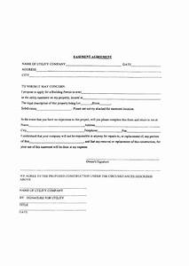 Employee Application Form Template Easement Agreement Printable Pdf Download