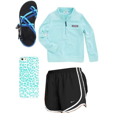 Blue lazy school outfit. Vineyard vines pullover nike shorts and chacos | Letu0026#39;s go shopping ...