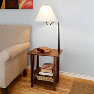 end tables designs end tables with lamps built in With vintage floor lamp with built in table