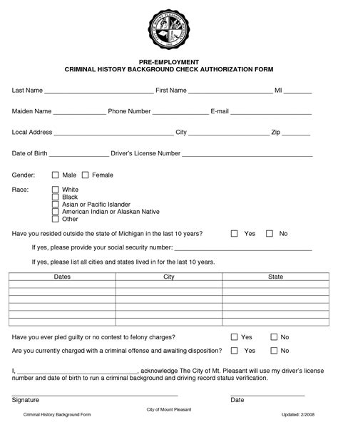 Background Check For Employers Employment Background Check Consent Form Background Checks
