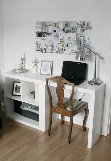 ikea small expedit plus hacked expedit as desk via