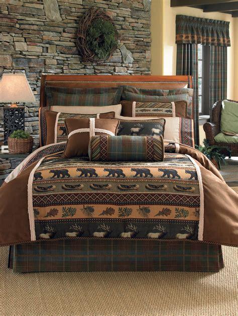 rustic comforter sets king rustic bedding sets lodge log cabin bedding