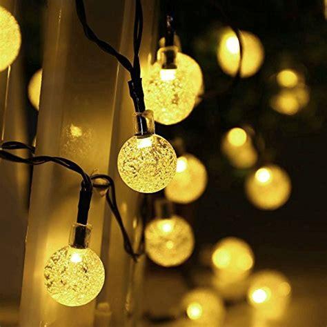 outdoor christmas globe lights qedertek globe outdoor solar string lights 20ft 30 led