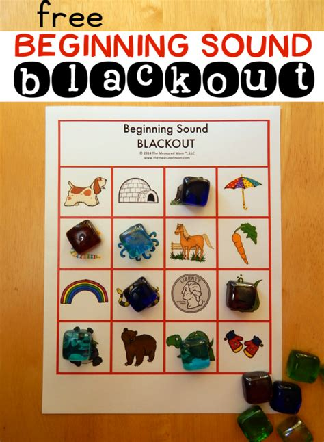 Review Letter Sounds With Beginning Sound Blackout (8 Free Boards!)  The Measured Mom