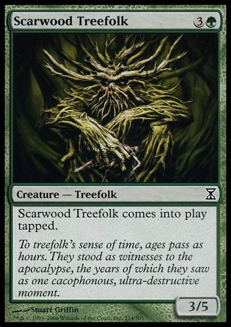 Mtg Green Treefolk Deck by Scarwood Treefolk Tsp Mtg Card