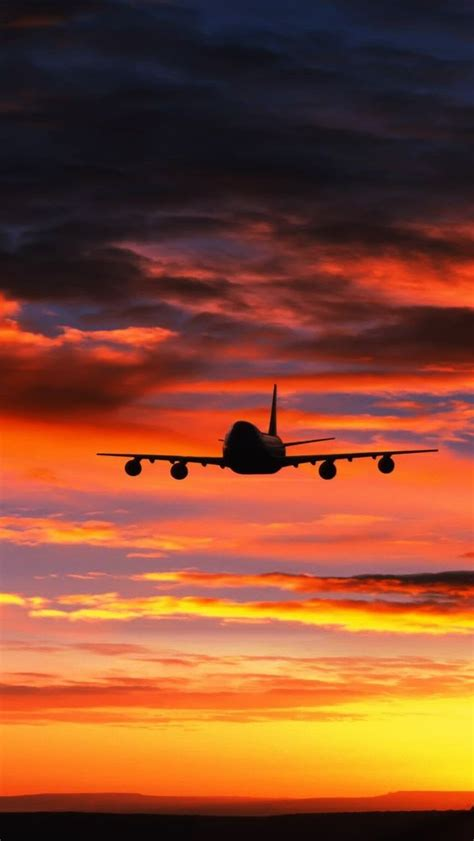 Airplane Hd Wallpaper Iphone Aircraft Civilian In 2019