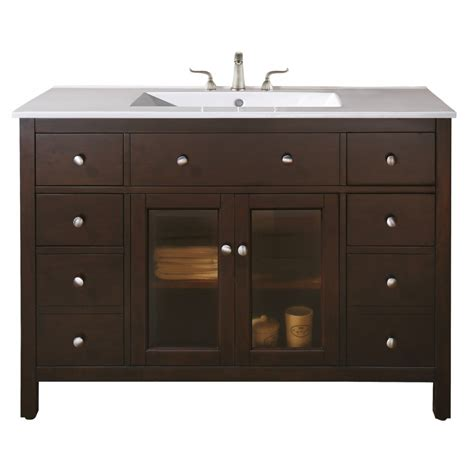 48 vanity with top and sink 48 inch single sink bathroom vanity with choice of top