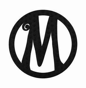 embossed black felt monogram letter m With felt monogram letters