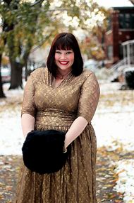 Plus Size Holiday Dresses Gold