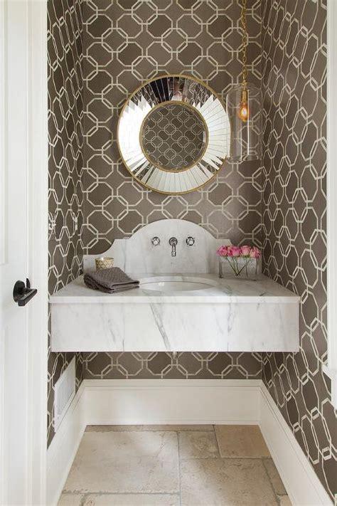 floating powder room vanity  curved bowl sink  wall