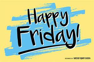 Handwritten Happy Friday design - Vector download
