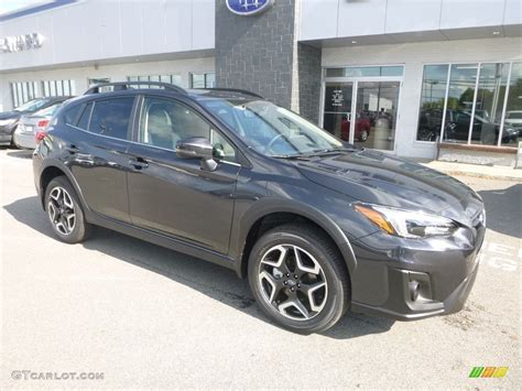 dark gray metallic subaru crosstrek  limited