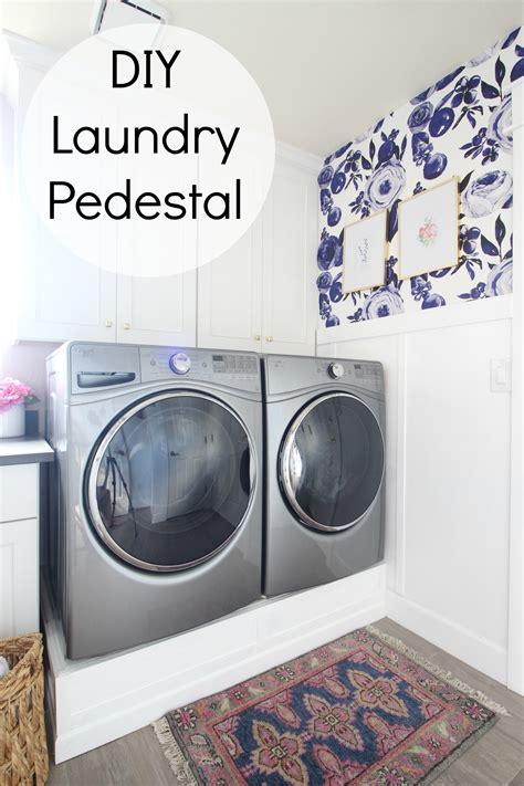 diy laundry pedestal park home reno diy laundry pedestal clutter
