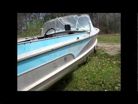Old Boat With Fins by Vintage Aluminum Boat With Fins Youtube