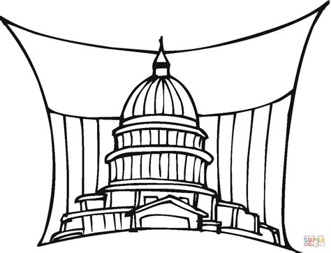 Coloriage Capitole Des Tats Unis Washington