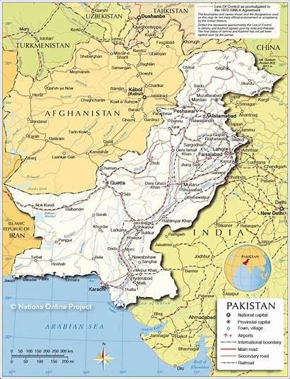 Pakistan Map Maps Carte Including Chitral Karte