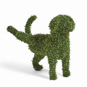 Decorative Peeing Dog Topiary - The Green Head