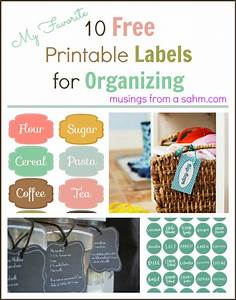 10 free printable labels for organizing living well mom With how to print sticker labels at home