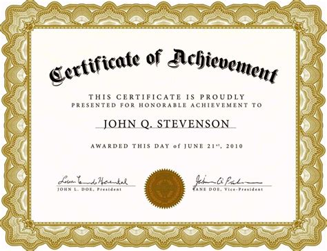certificate templates  word  template