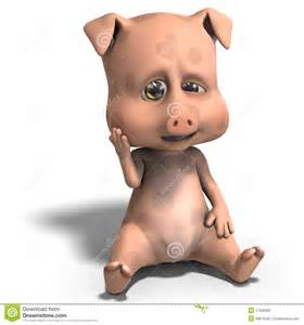 Cute Cartoon Pigs