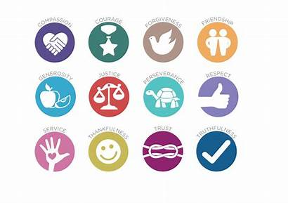 Values Logos Icons Words Education Children Putting