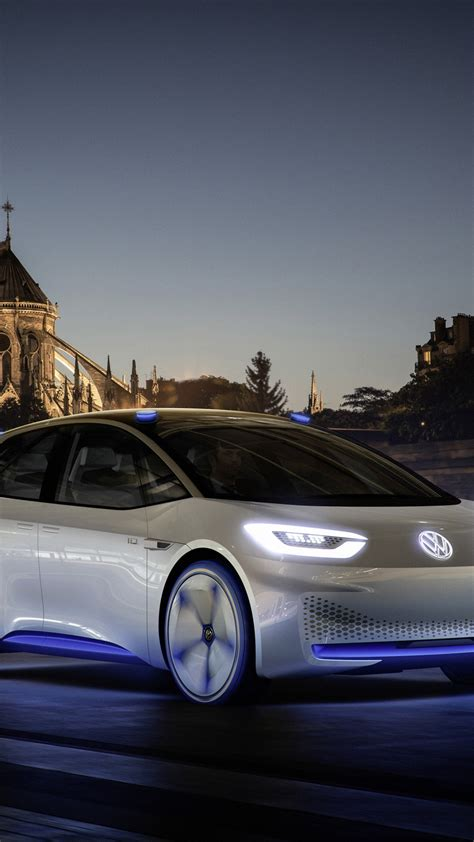 wallpaper volkswagen id paris auto show  electric