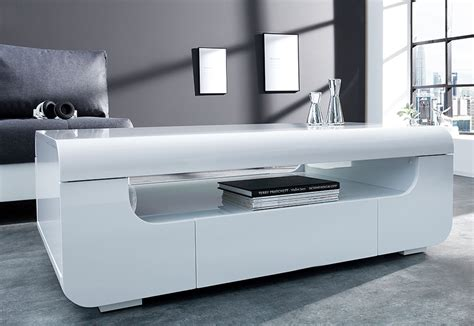 table basse laque blanc