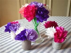Comment Faire Une Rose En Papier Facilement : bouquet de fleurs en papier crepon ~ Nature-et-papiers.com Idées de Décoration