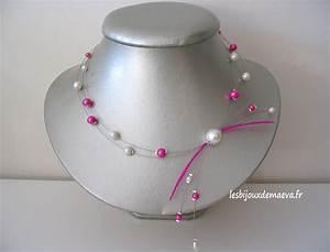 collier mariage fushia la boutique de maud With magasin de robe de mariée avec collier fantaisie pas cher