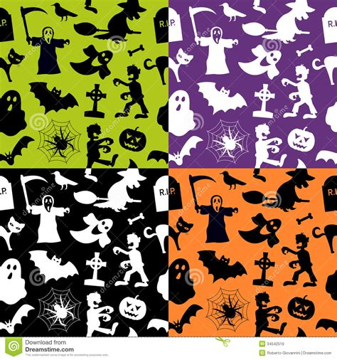 design patterns of four seamless patterns stock vector image 34542519
