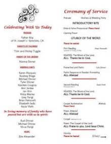 wedding ceremony bulletin wedding program on catholic wedding programs