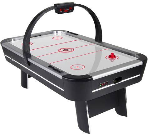 air hockey and football table strikeworth pro ice aluminium 7 foot air hockey table