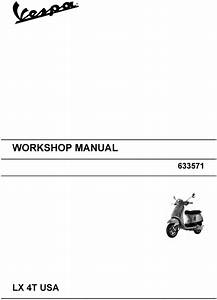 Piaggio Vespa Lx-50   Lx-4t Usa   Service - Workshop Manual