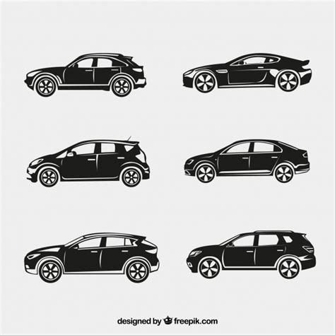Fantastic Silhouettes Of Cars Vector