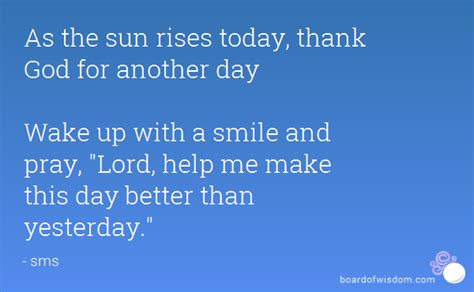 Quotes Thanking God For Another Day